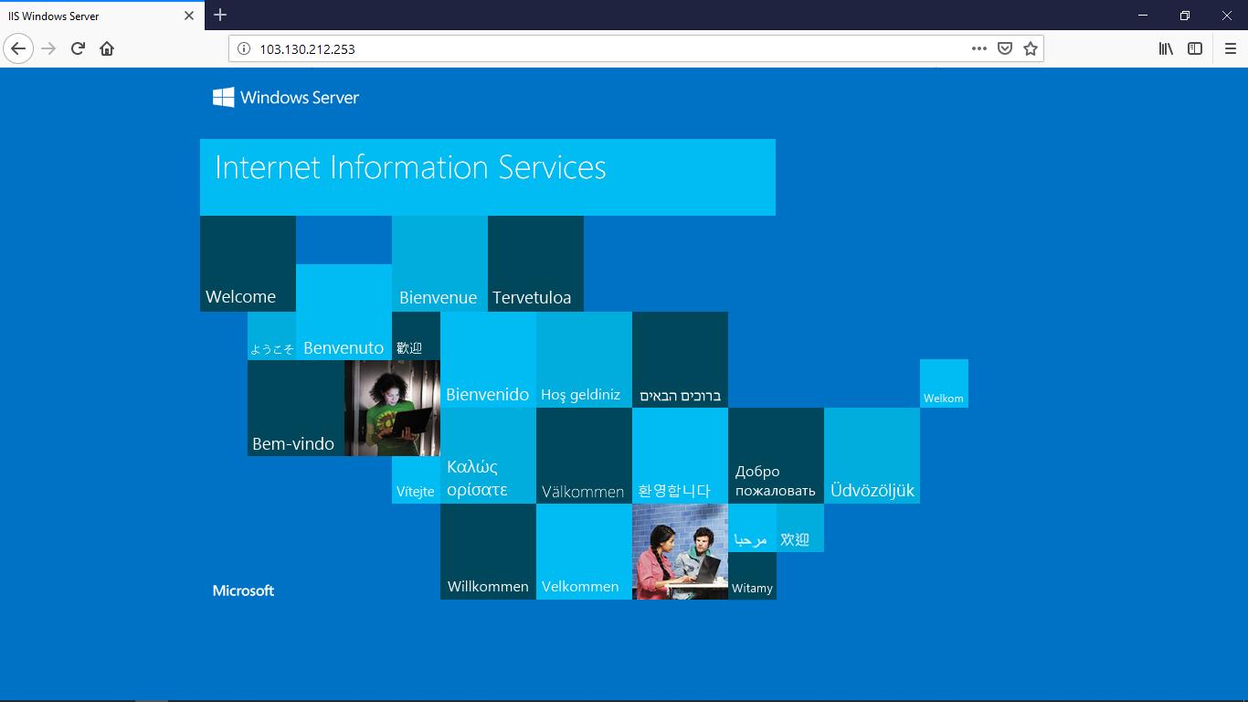 Hướng Dẫn Cài đặt IIS và Tạo Website trên Windows Server 2012 R2